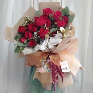 bó hoa hông nhung